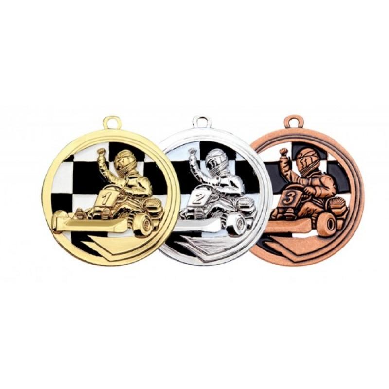 Медаль Картинг 50 мм в трех цветах
