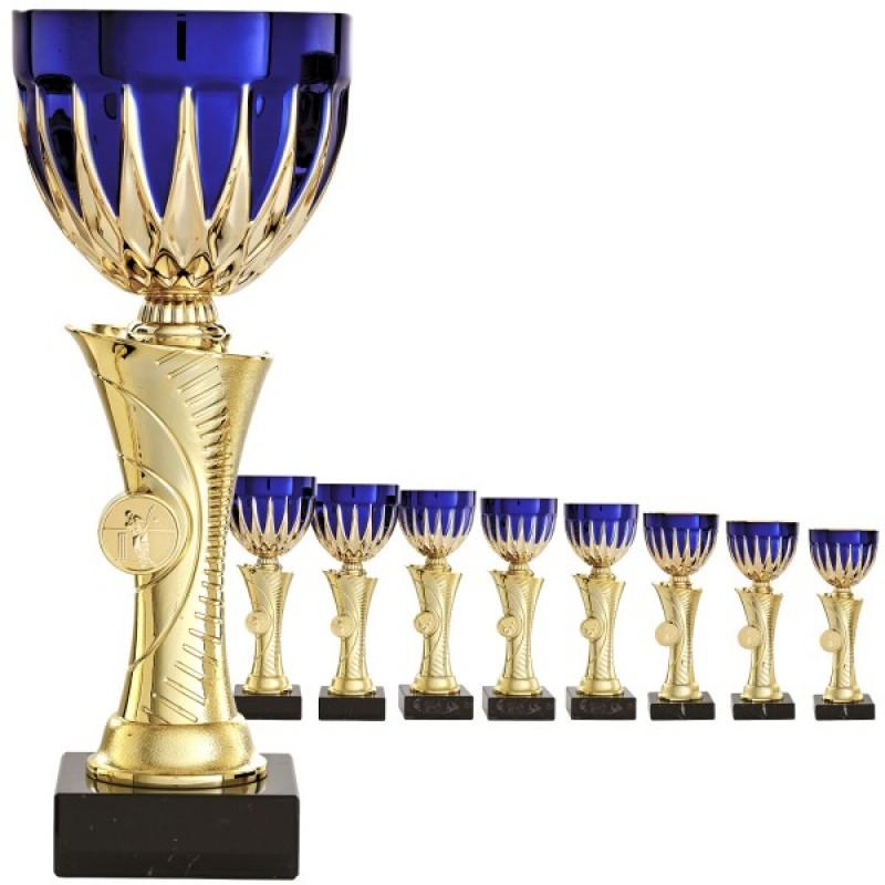 Золотая чаша с золотисто-голубой миской